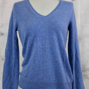 Lord and Taylor V-Neck Purple Cashmere Sweater